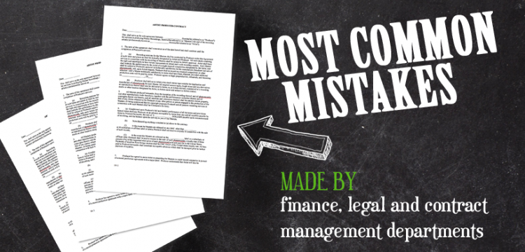 MOST COMMON CONTRACT MISTAKES made by finance, legal and contract management departments …
